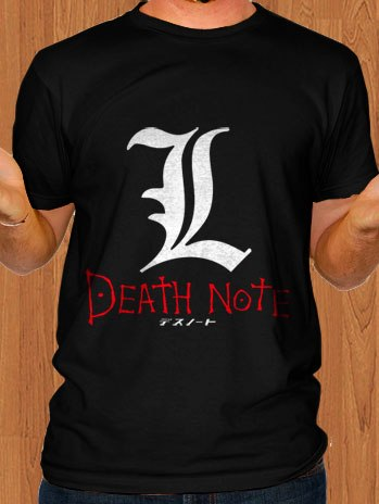 Death Note L T-Shirt Black