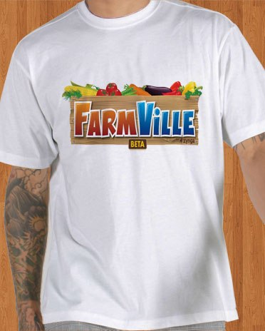 FarmVille Facebook T-Shirt Game Men