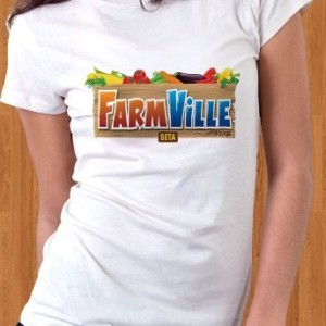 FarmVille Facebook T-Shirt Game Women