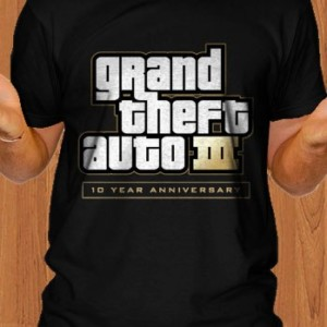 Grand Theft Auto T-Shirt GTA 10 Year Anniversary