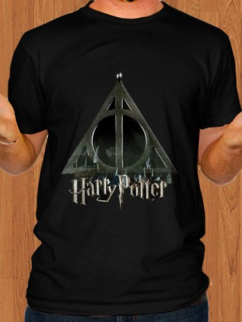 Harry Potter T-Shirt Deathly Hallows Symbol Logo