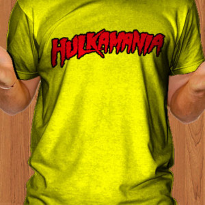 Hulkamania T-Shirt Hulk Hogan Yellow