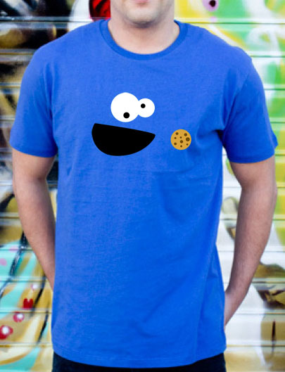 Monster Cookies T-Shirt Blue Men