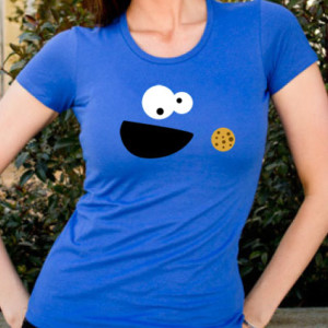 Monster Cookies T-Shirt Blue Women