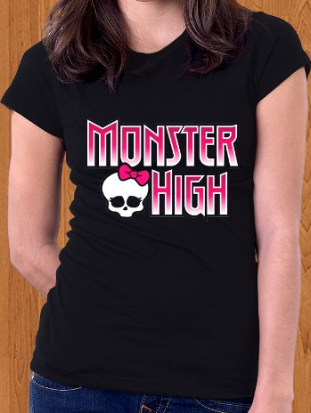 Monster High T-Shirt Logo Draculaura Lagoona