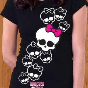 Monster High T-Shirt Multi Skull clawdeen Wolf
