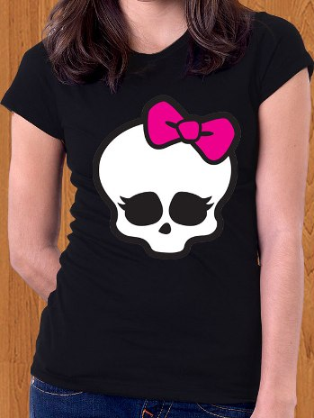 Monster High T-Shirt Skull Logo Frankie Stein