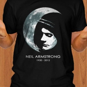 Neil Armstrong T-Shirt Memorial RIP Men