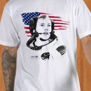 Neil Armstrong T-Shirt USA Astronaut Men
