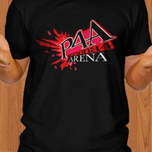 P4A T-Shirt Persona 4 Arena Game Black