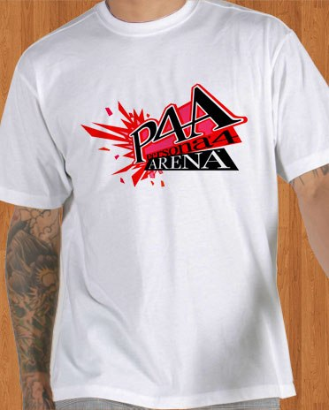 P4A T-Shirt Persona 4 Arena Game White