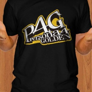 P4G T-Shirt Persona 4 Golden Game Black