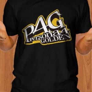 P4G T-Shirt Persona 4 Golden Game Black