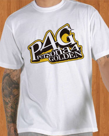 P4G T-Shirt Persona 4 Golden Game White