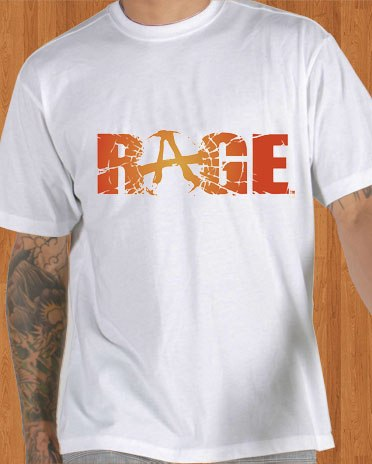 Rage T-Shirt Game White