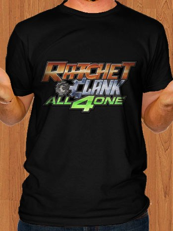 Ratchet and Clank T-Shirt All 4 One Black