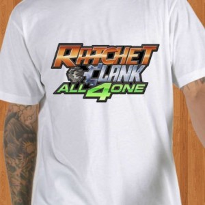 Ratchet and Clank T-Shirt All 4 One White