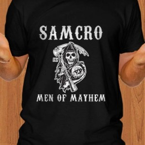 Sons Of Anarchy T-Shirt Samcro Men Of Mayhem