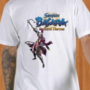 Sengoku Basara T-Shirt Samurai Heroes White