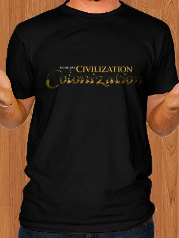 Sid Meiers T-Shirt Civilization Revolution Black
