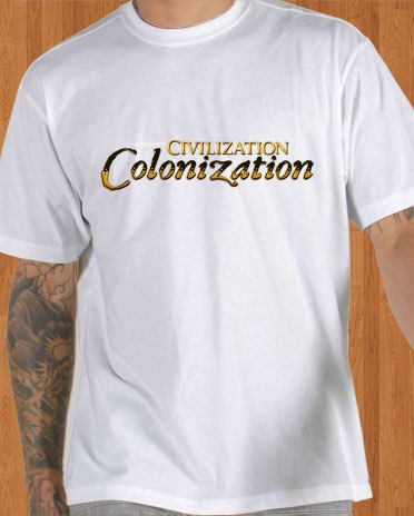 Sid Meiers T-Shirt Civilization Revolution White