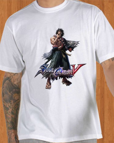 Soul Calibur V T-Shirt Mitsurugi White