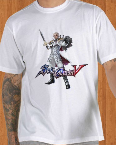 Soul Calibur V T-Shirt Patroklos White