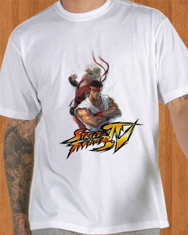 Super Street Fighter IV T-Shirt White