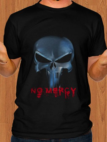 The Punisher T-Shirt Frank Castle No Mercy