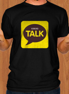 kakao-talk-app-black-men-t-shirt