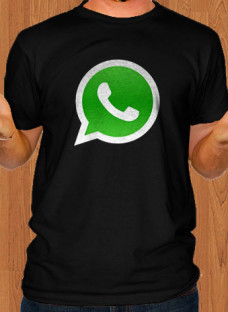 whatsapp-app-black-men-t-shirt