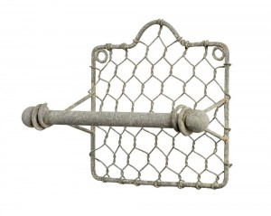 Chicken Wire Toilet Paper Holder.  Best Farmhouse Decoration Under $50 at Amazon