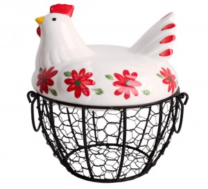 Farmhouse Chicken Wire Egg Basket.  Best Farmhouse Decoration Under $50 at Amazon