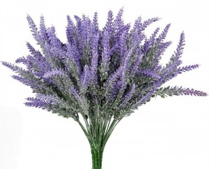 Faux Lavender Bouquet.  Best Farmhouse Decoration Under $50 at Amazon