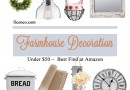 farmhouse decoration under 50 dollars at amazon