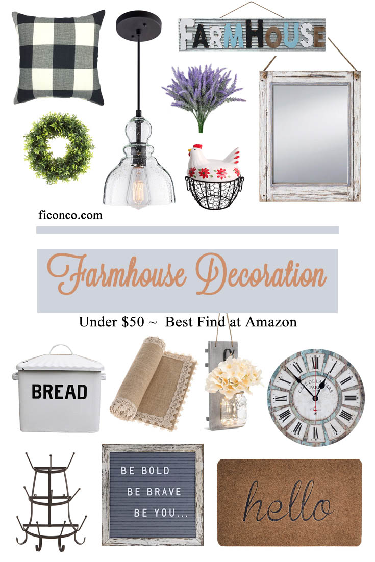 Best Farmhouse Decoration Under $50 at Amazon