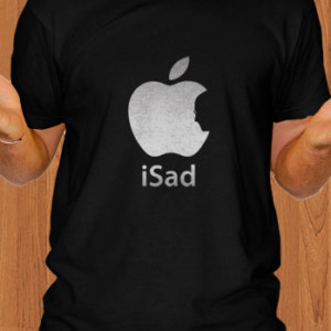 Apple iSad T-Shirt Steve Jobs RIP