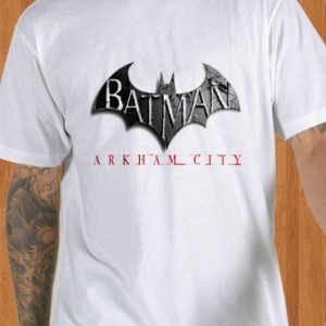 Batman T-Shirt Arkham City White