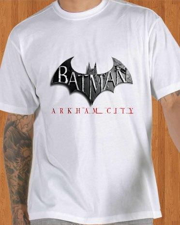 Batman T-Shirt Arkham City White