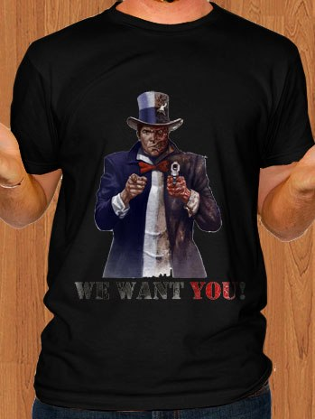 Batman T-Shirt Uncle Sam Black