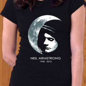 Neil Armstrong T-Shirt Memorial RIP Women