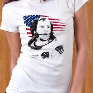 Neil Armstrong T-Shirt USA Astronaut Women