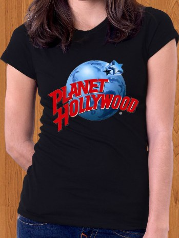 Planet Hollywood T-Shirt Black Women